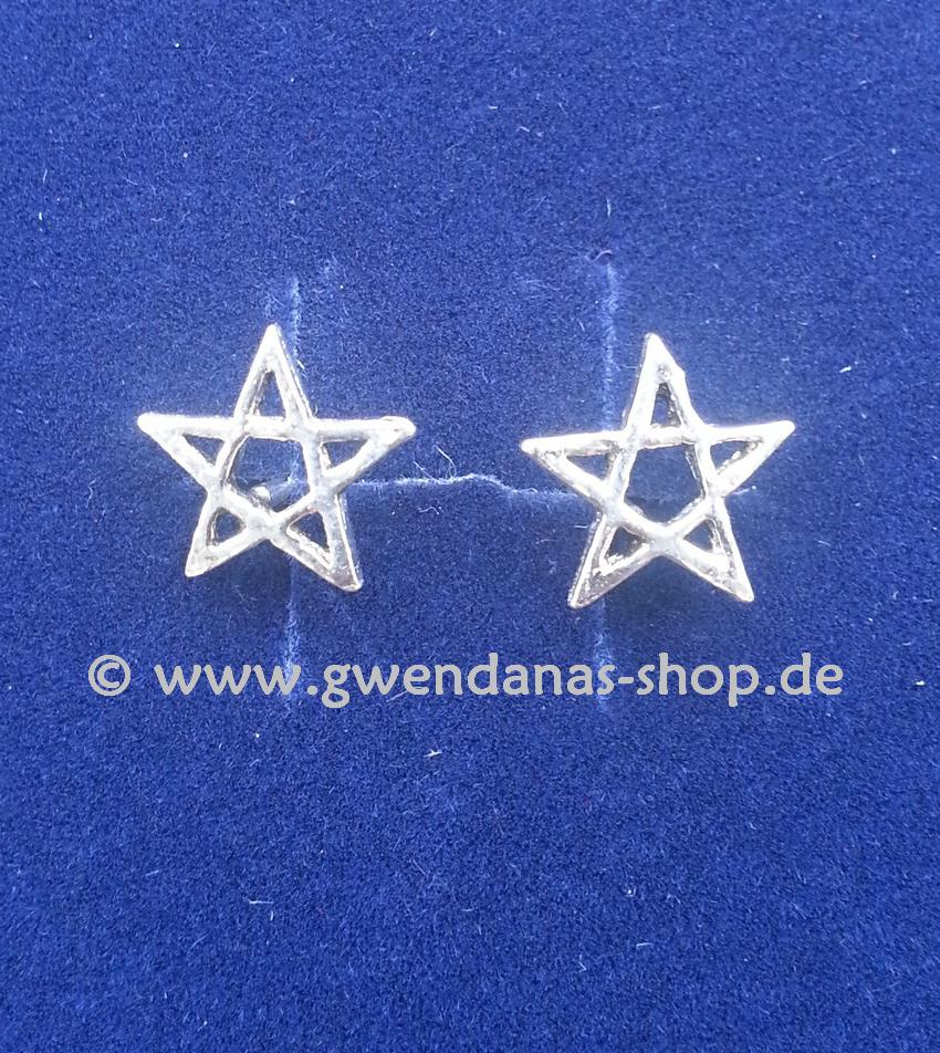 pentagramm ohrstecker 925 silber esoterik shop ohrschmuck hexenladen. Black Bedroom Furniture Sets. Home Design Ideas